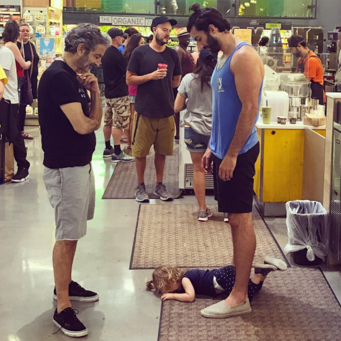 Justin Baldoni posted this image to his social media as parenting advice - it has since gone viral.