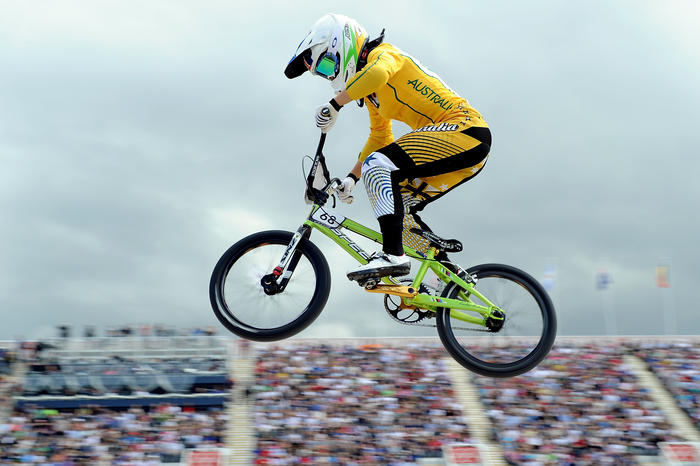 Buchanan won the BMX time trail at the Olympics and was the fastest rider going into the final (Getty Images)