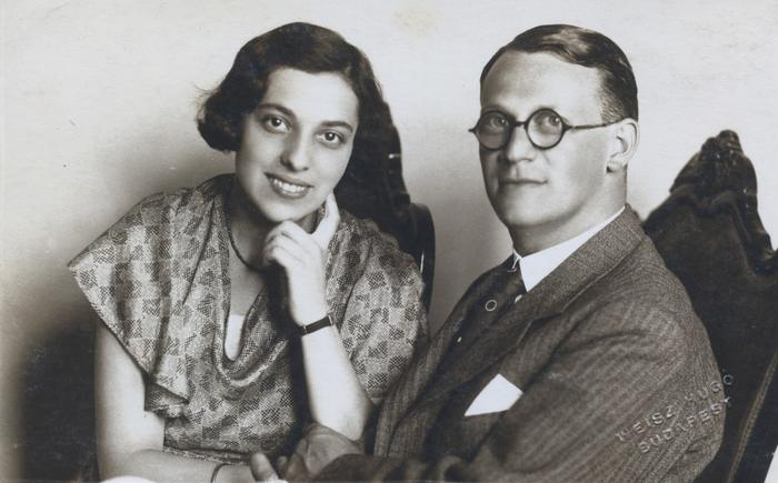 Clara Kraus and Emery in 1937 (image supplied by Paul Kraus)