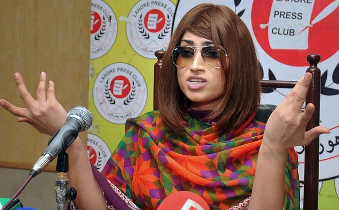 File image of Pakistani social media star Qandeel Baloch was fell victim to an 'honour killing'