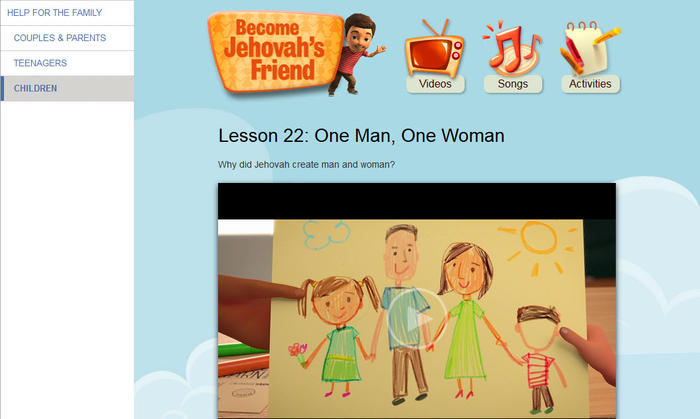 Jehovah's Witnesses cartoon tells children that gay people can