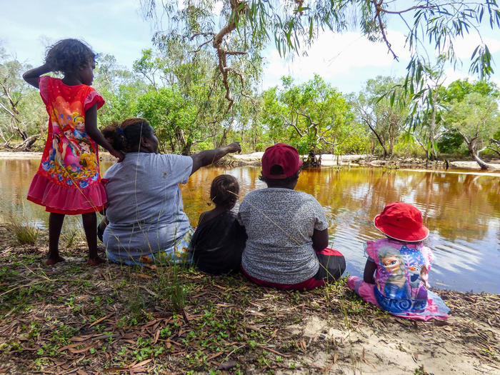 At least twice a week, the kids go out 'on Country' where they learn from an entirely Aboriginal First Nations perspective. (Children's Ground)