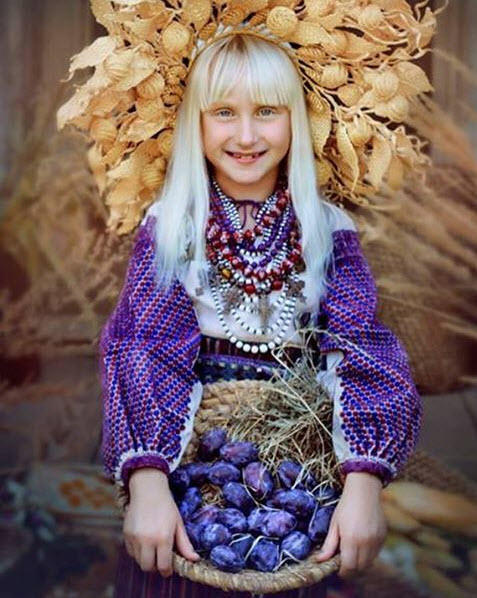 A girl wearing a vinok