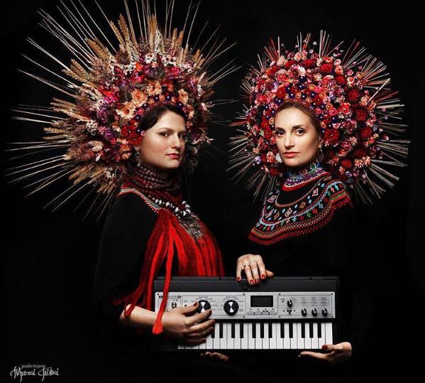 Women wearing floral crowns