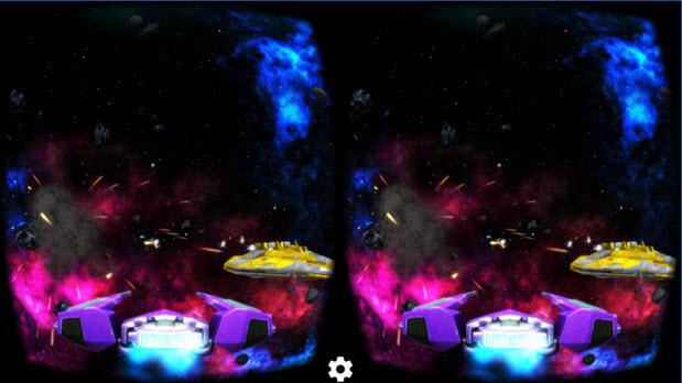 deep space battle