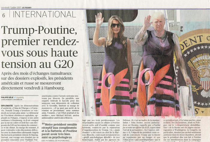 'Synchronized Waving', Le Figaro, Series Part III by Jet Nijkamp