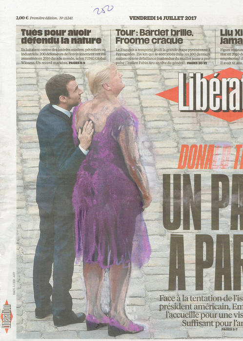 'Zis Feels Ok?', Macron Welcoming Trump In Paris, Libération, Series Part III by Jet Nijkamp