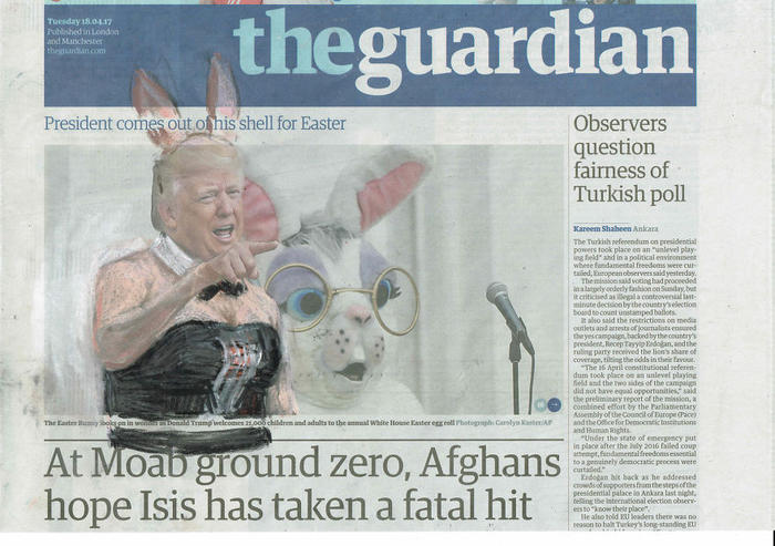 'President Comes Out Of His Shell For Easter', The Guardian, Series Part II by Jet Nijkamp