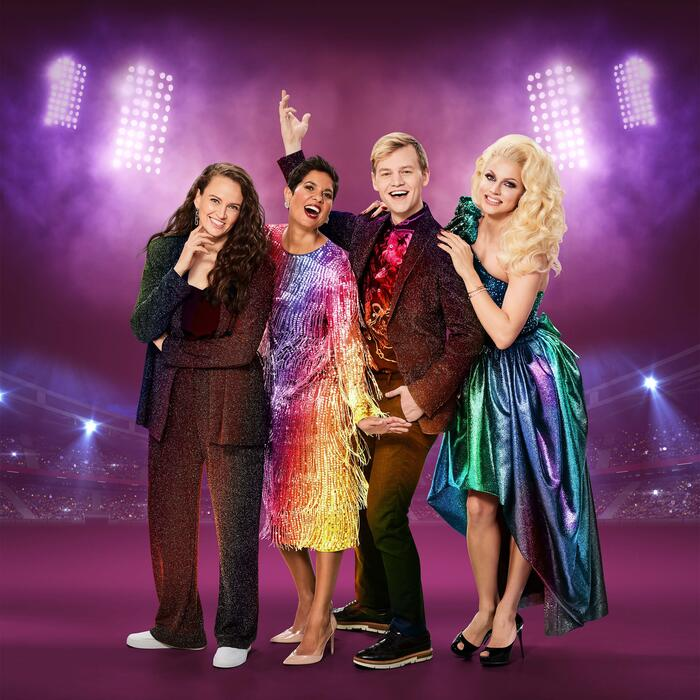 Mardi Gras 2021 Hosts - Zoë Coombs Marr, Narelda Jacobs, Joel Creasey & Courtney Act