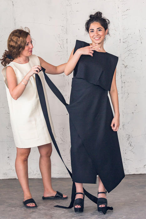 English/Jordanian designer Edelina Joyce Issa has given the traditional Middle Eastern thob a modern spin.