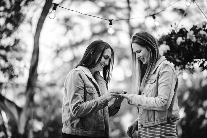 Ellen and Carina got engaged in Tasmania in July this year.