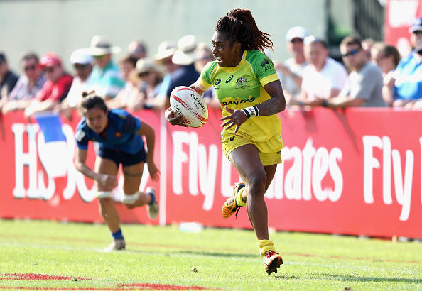 Ellia Green at the Emirates Dubai Rugby Sevens