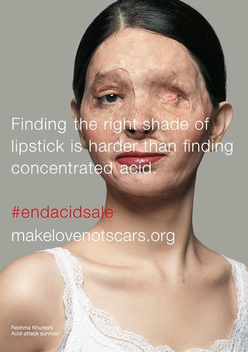 An #endacidsale campaign image for Make Love Not Scars.