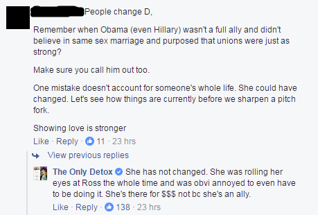 Comment on The Only Detox's Facebook post.