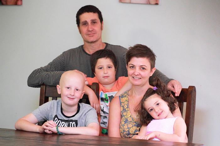 Oscar with family