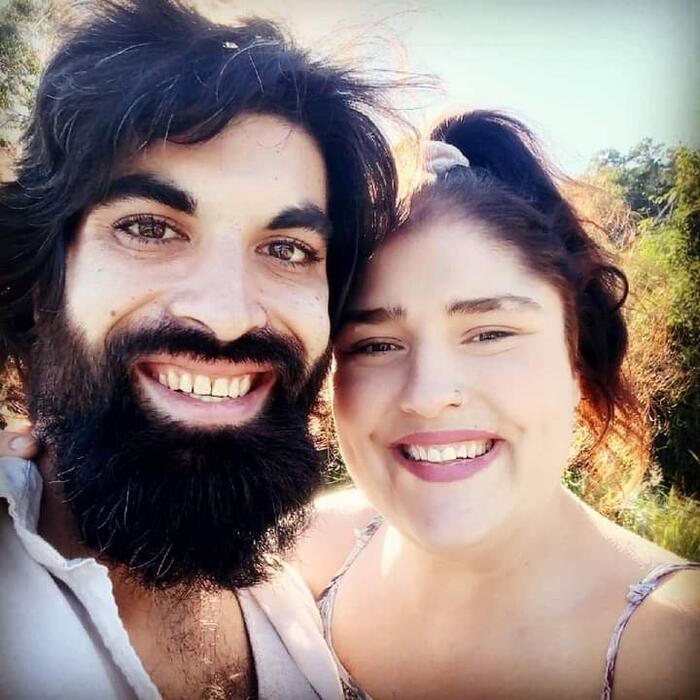 Bianca Saez with partner Zack.