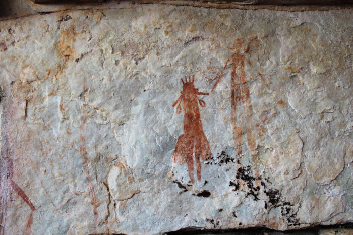 These drawings in the Kimberley are amongst the oldest rock art in the world