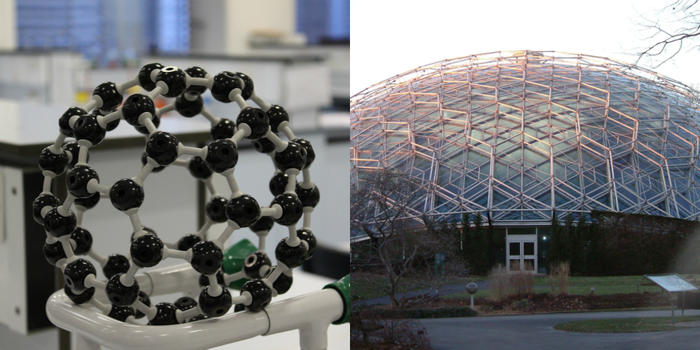 geodesic dome and molecular model