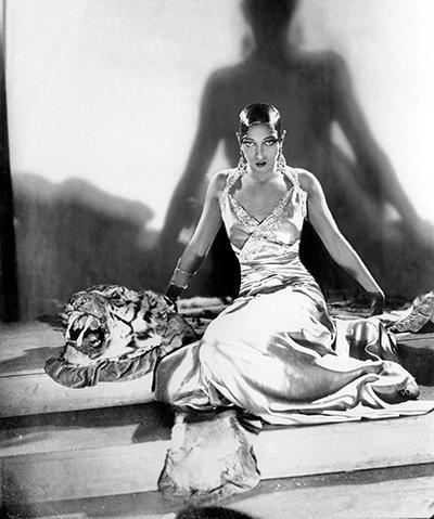 Josephine Baker On A Tiger Skin Around 1925-1932