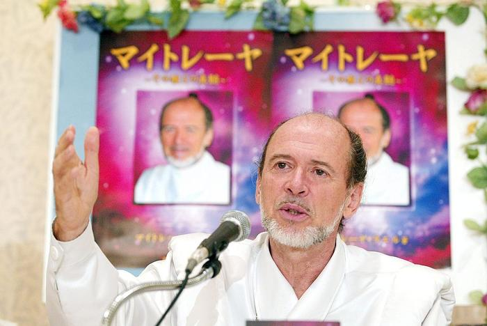 Cloning Sect'S Founder Rael In Tokyo, Japan On August 05, 2004 - Raelian movement founder Claude Vorilhon, also known as Rael attends a press conference.