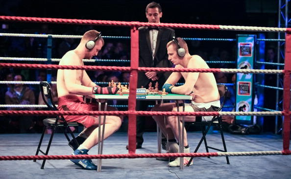 Chessboxing at the Royal Albert Hall in London.