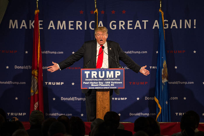 Donald Trump Holds Pearl Harbor Day Rally At USS Yorktown