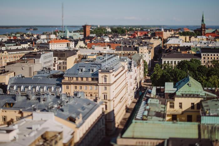 The city of Helsinki, Finland