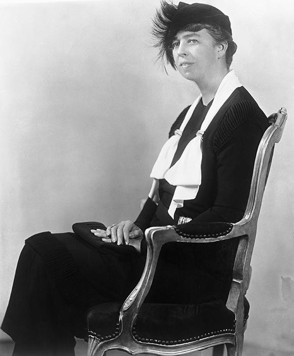 Eleanor Roosevelt Seated in Chair