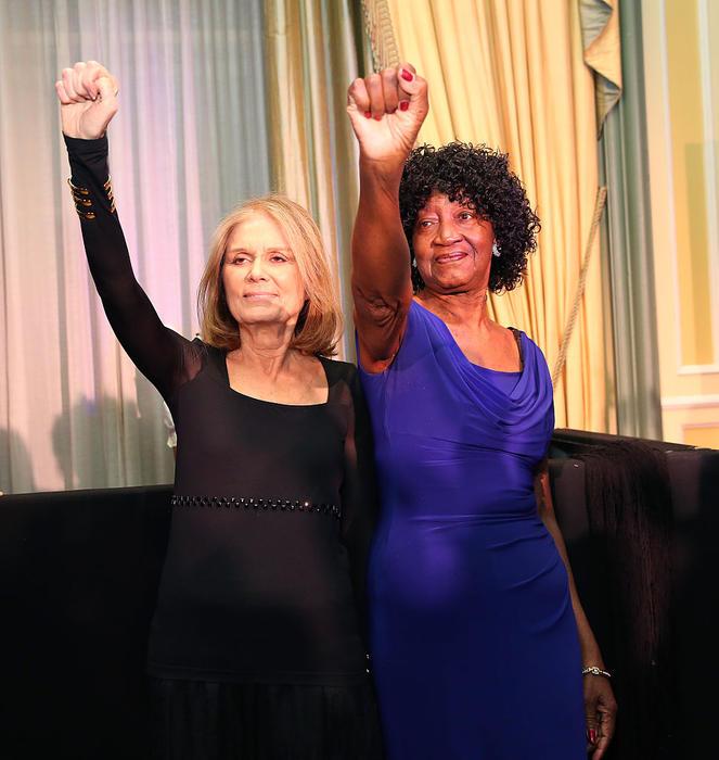 Gloria Steinem and Dorothy Pitman Hughes.