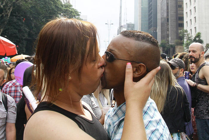 20th annual Gay Pride Parade in Sao Paulo