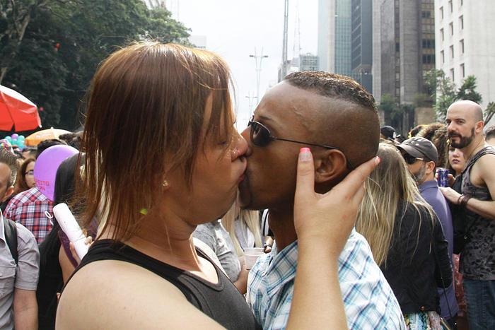 20th annual Gay Pride Parade in Sao Paulo