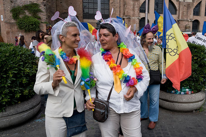 The Gay Pride Parade in Rome
