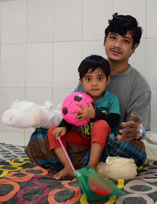 Abul Bajandar and his daughter