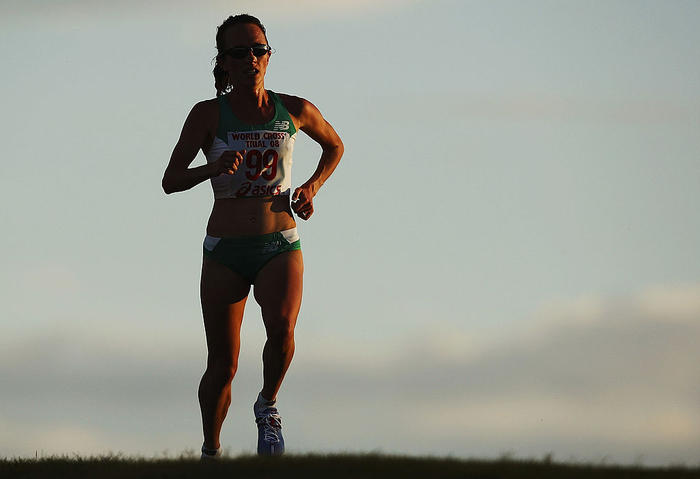 Lisa Weightman at 2008 World Cross Country Champs