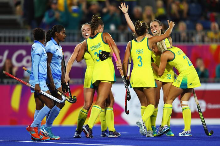 Women's Semifinal hockey match between Australia and India on day eight of the Gold Coast 2018 Commonwealth Games April 12, 2018 (Getty)