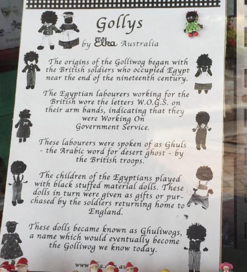 Elka History Sheet of Gollys
