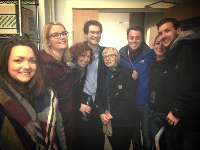 Jules Robertson and Holby City cast and crew members.