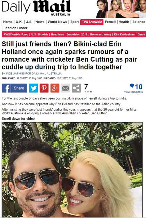 Daily Mail - Holland Cutting
