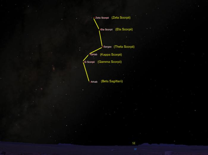 Star map route to the Carnarvon Gorge