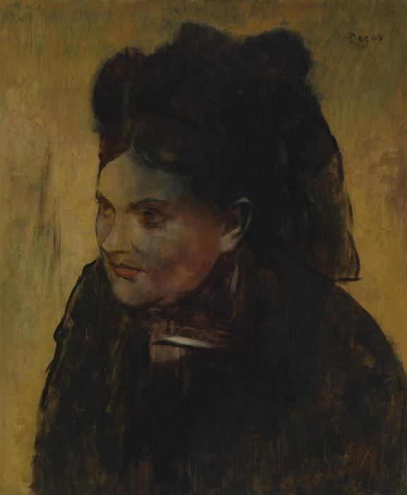 degas portrait of a woman