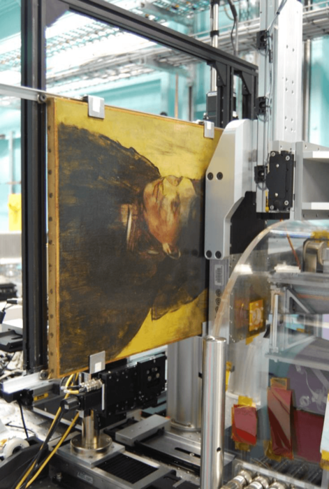 scanning degas portrait of a woman with the maia detector
