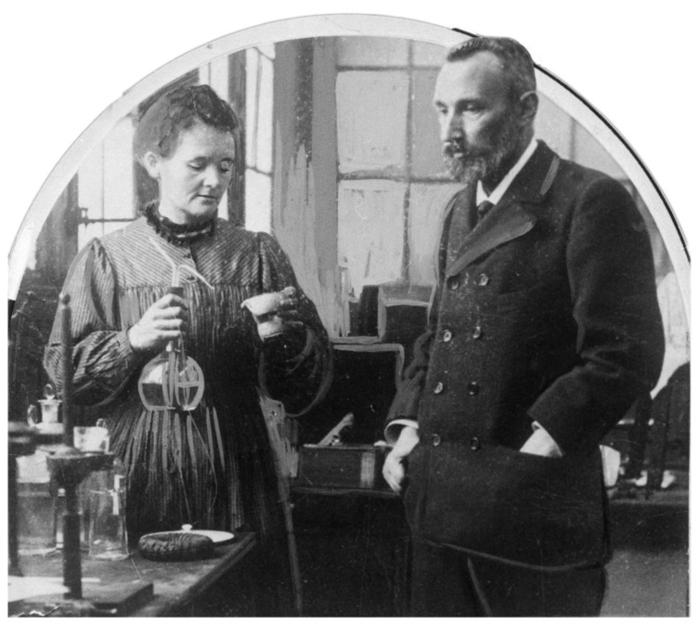 Marie and Pierre Curie the discoverers of radium