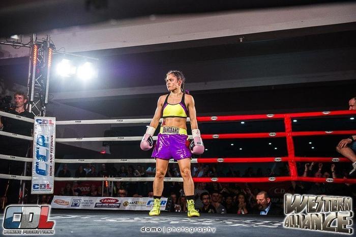 Louisa Bang Bang Hawton WBO World Title fight