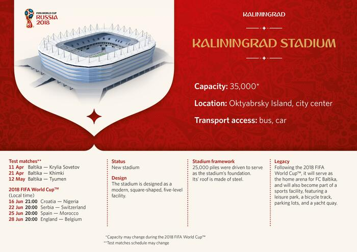 Kaliningrad Stadium Infographic