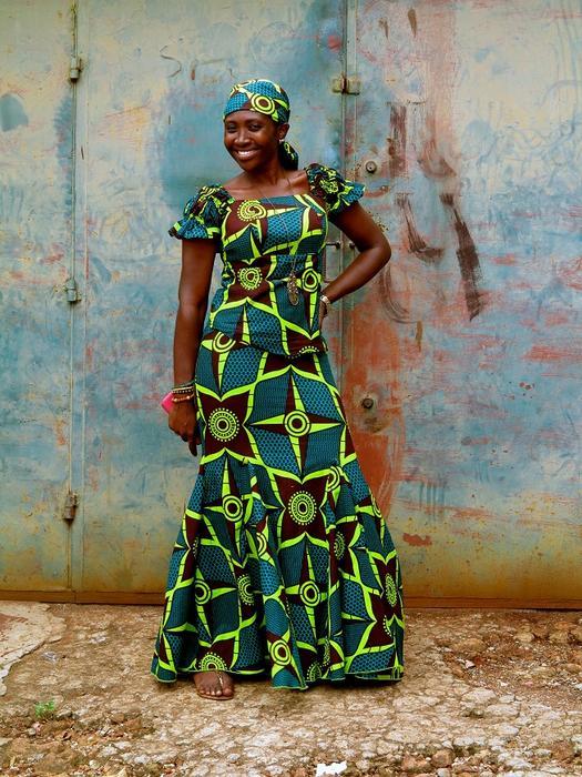 Woman in dress dress