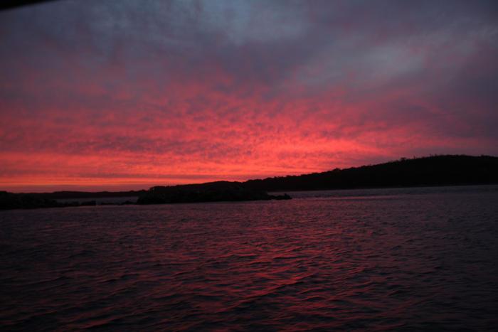 Sarah Island Tasmania Sunset