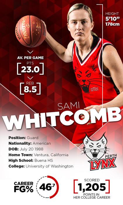 Sami Whitcomb Perth Lynx 2016 WNBL Grand final