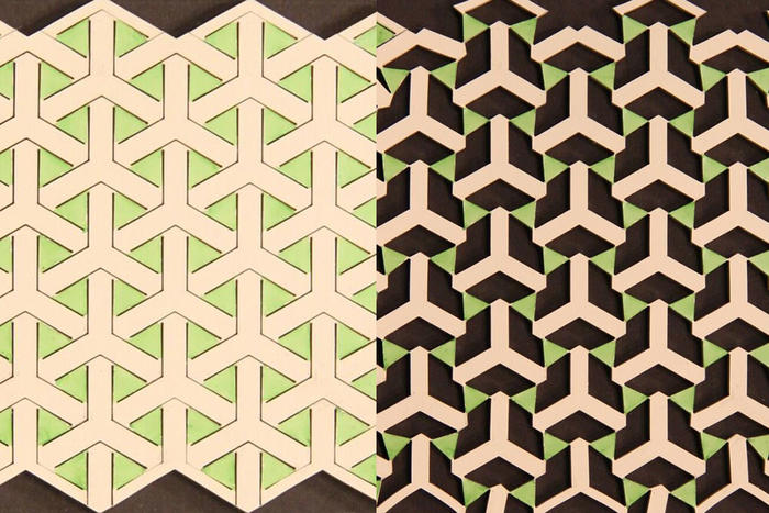 expandable geometric material in action