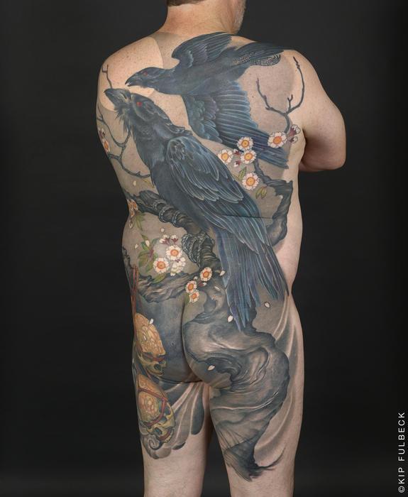 Japanese tattoo by Jeff Gogue.