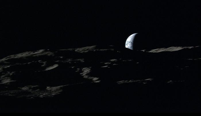 the earth seen from the moon with kaguya lunar orbiter